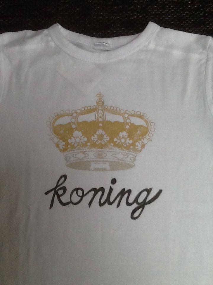 Met een my-style sjabloon en een textiel stift, maak je snel een leuk shirt voor Koningsdag!