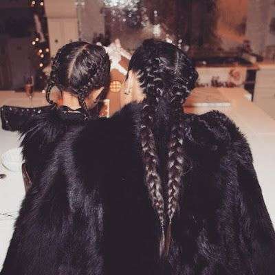 Kim K and North West rock matching braids and fur coats - http://www.thelivefeeds.com/kim-k-and-north-west-rock-matching-braids-and-fur-coats/