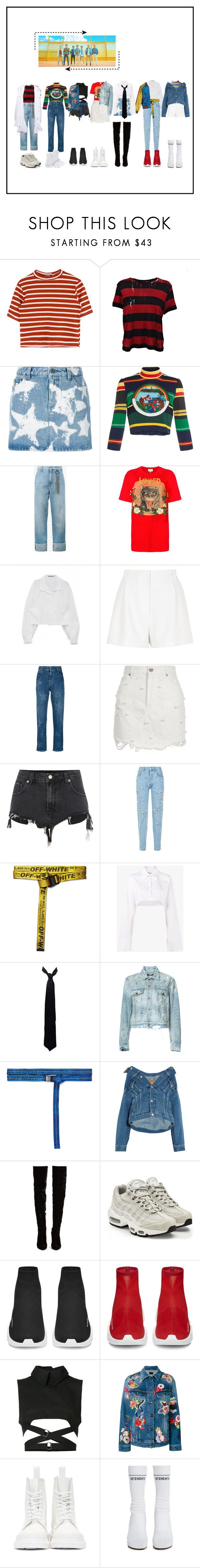 """""""DNA - BTS"""" by beyzalwaysperf ❤ liked on Polyvore featuring AMIRI, Givenchy, Tata Naka, Mira Mikati, Gucci, River Island, STELLA McCARTNEY, Forte Couture, Off-White and Balenciaga"""