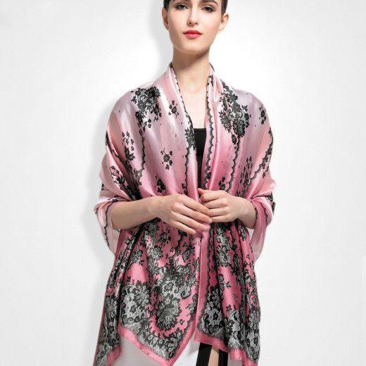 Hodvábny šál vo viac farbách zo 100% hodvábu 180 x 86 cm