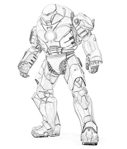 dibujos de iron man by seiho via flickr - Ironman Pictures To Color