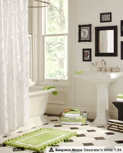 black and white modern edwardian style. green doesnt suit, needs to be darker to fit in theme