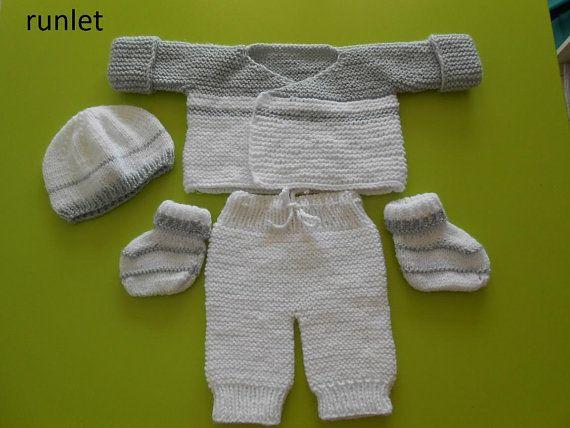 e257aeb81c679 brassière bonnet chaussons pantalon bébé brassiere naissance bébé vêtement  naissance brassière bébé  chausson ensemble bébé layette tricot