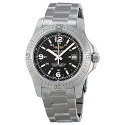 Breitling Colt Black Dial Stainless Steel Mens Watch A7438811-BD45SS