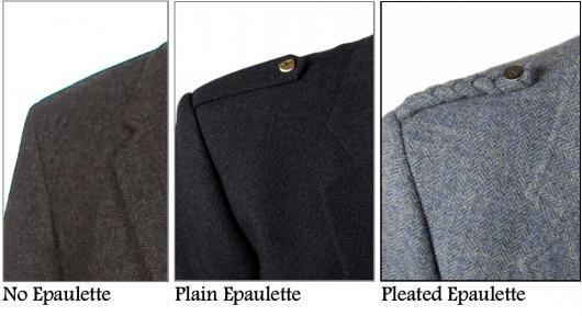 Tweed Jacket Epaulette Style Options