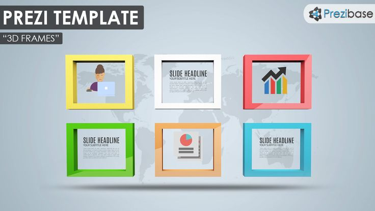 free 3d frames prezi template world map