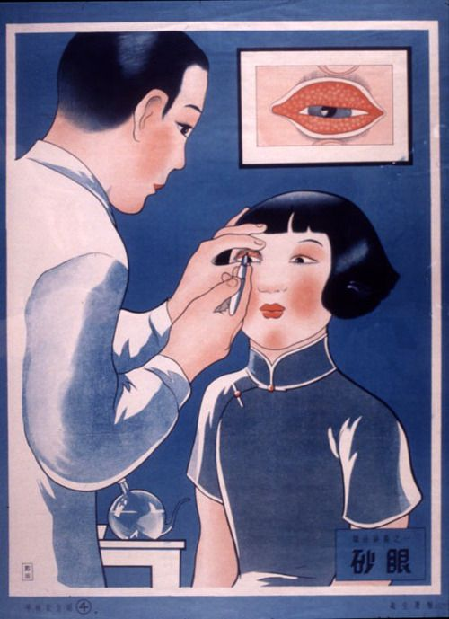 Vintage Chinese medical poster