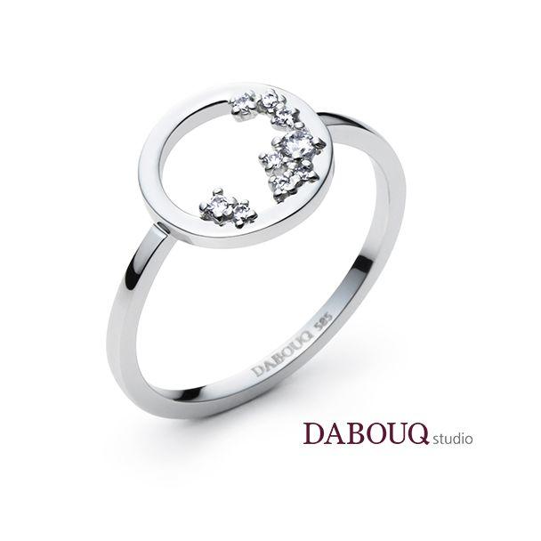 Dabouq Studio Single Ring - DER0007 - Simple+  #DABOUQ #Jewelry #쥬얼리…