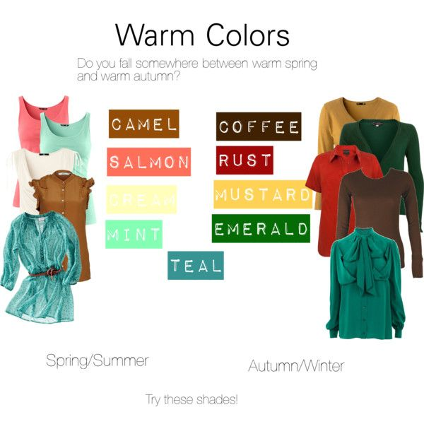"""Warm Colors"" by katestevens on Polyvore~ do you fit somewhere between warm spring & warm autumn?"