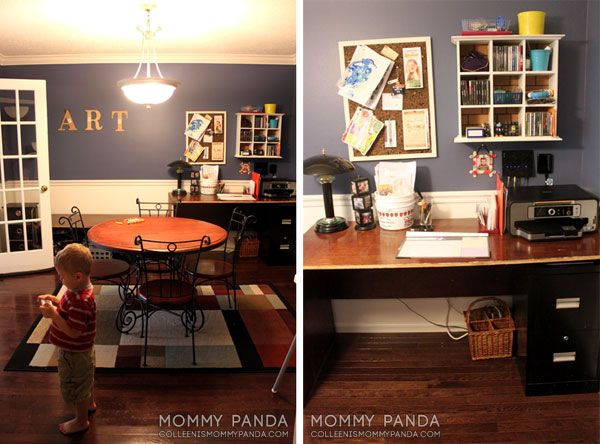 Mommy Panda's ART wall from her dining room re-do project