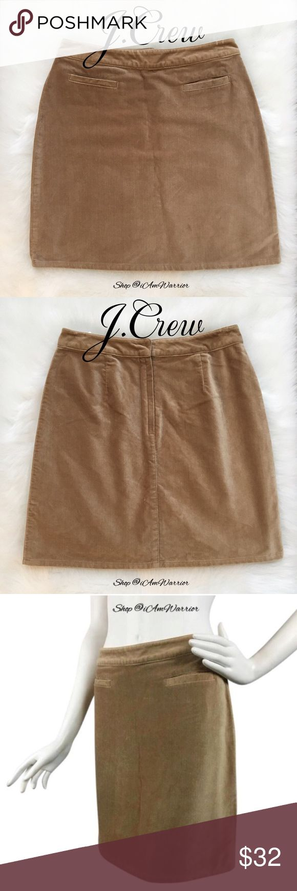 "🆕NWT J. Crew velvet mini skirt NWT J. Crew velvet mini skirt is perfect for Spring! Color is called almond, and depending on the light it looks tan to warm caramel in color. 20"" long, waist just shy of 14"" across. Even though a size 8, it fits a like a size 4/6. Please read my recently updated 'about me and my closet' listing for pricing/policies. J. Crew Skirts Mini"