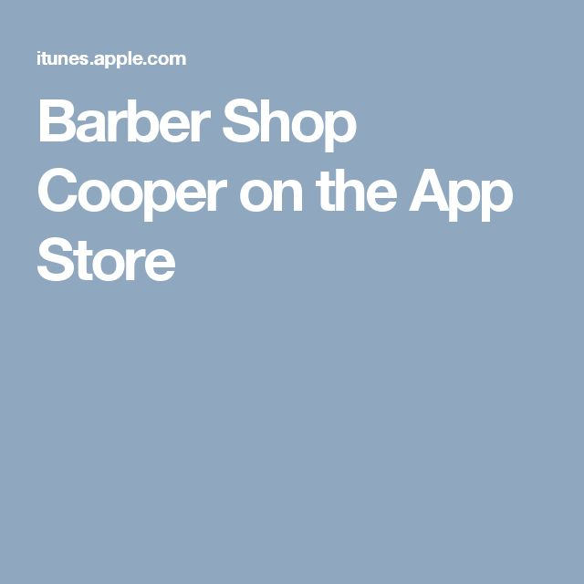 Barber Shop Cooper on the App Store