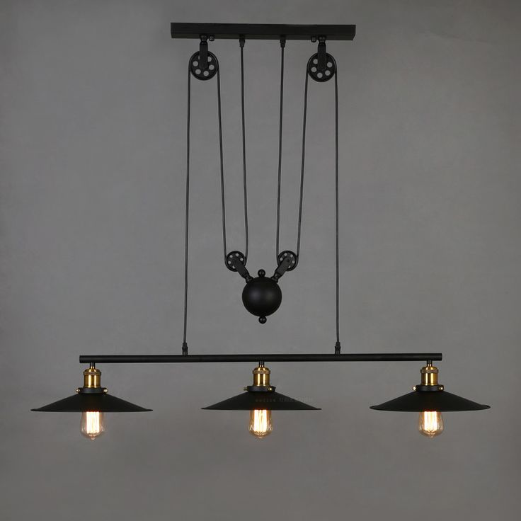 Cheap Chandeliers on Sale at Bargain Price, Buy Quality pulley band, light chime, light oil from China pulley band Suppliers at Aliexpress.com:1,Number of Lights:3 2,Power Source:AC 3,Shade Direction:Down 4,Features:industrial vintage chandelier 5,Body Material:Iron