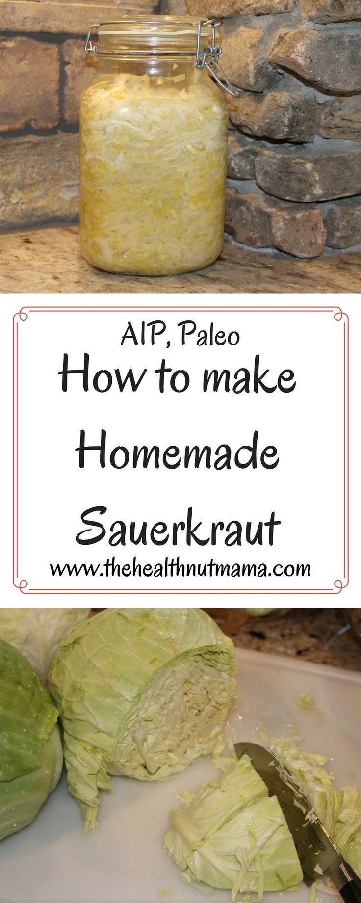 Easy No Pound Sauerkraut Recipe! Best, Cheapest Probiotic Ever! (AIP, Paleo, GAPS) www.thehealthnutmama.com