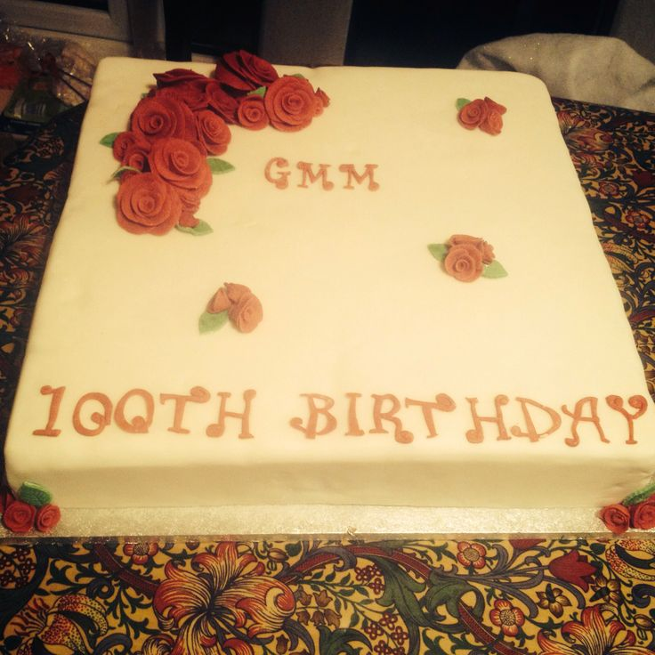 100th birthday Cake! My great great aunties!