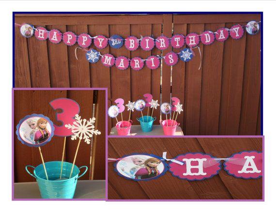 Disney Frozen Birthday Party Package by LittleBirdiPaperShop, $50.00