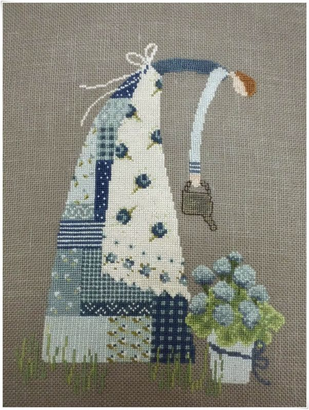 Patchwork lady 2 seeing this colour and design makes me want to go and stitch.