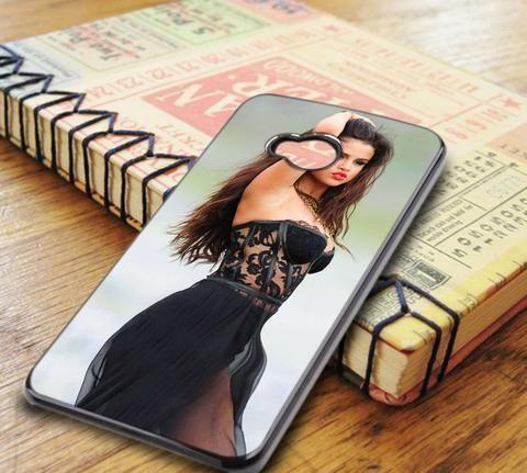 Selena Gomez Cute Red Lips HTC One M7 Case