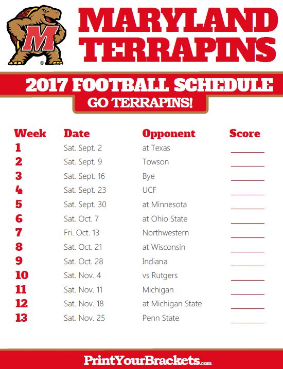 schedule for football state college football schedule