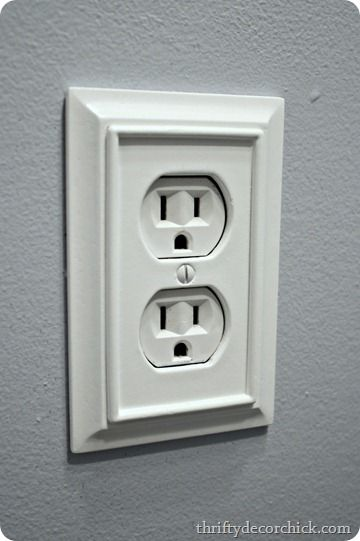 decorative outlet cover with moulding buy these at home depot or lowes - Decorative Light Switch Covers