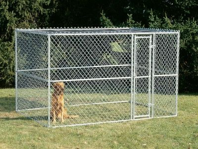 "DOG CONTAINMENT - EXERCISE PEN - CHAIN LINK PORTABLE KENNEL - 10"" X 6"" X 6"" - MIDWEST METAL PRODUCTS CO., - UPC: 27773009702 - DEPT: DOG PRODUCTS"
