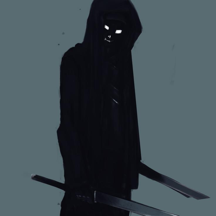 Sci-fi ninja, Rubén López on ArtStation at https://www.artstation.com/artwork/V4yLN