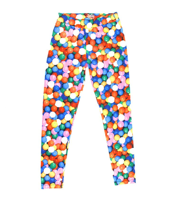 gumball leggings, candy leggings, multicolour leggings for girls, Justice leggings