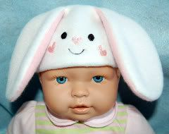 Baby Doll Bunny Ears Hat Embroidery machine by SewingForSarah