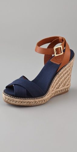 Tory Burch Tory Burch Crisscross Wedge Espadrilles #toryburch #espadrilles #wedges