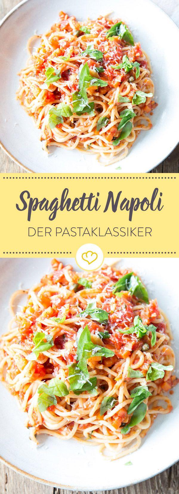 Diese Pastakreation wird mit Möhren, Sellerie und Knoblauch zubereitet und ist die ursprüngliche Version von Spaghetti mit Tomatensauce.
