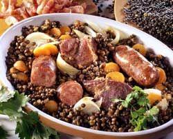 Petit salé aux lentilles au saucisses de Montbéliard une délice d'hiver bien français
