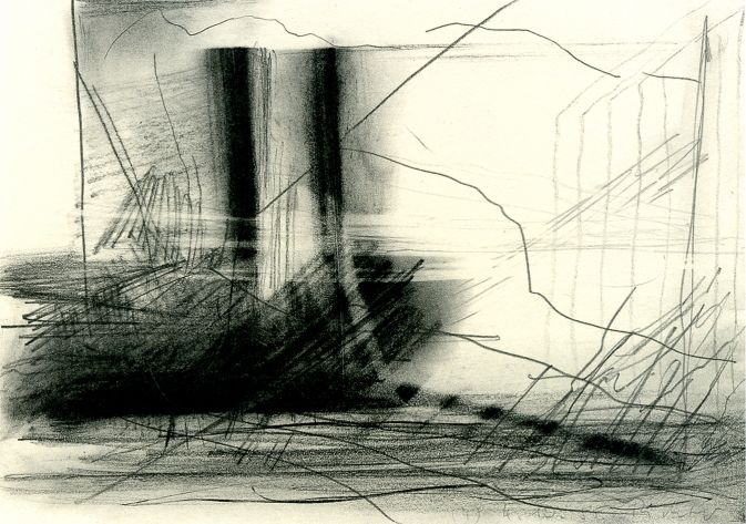 gerhard-richter Graphite and black pencil on paper