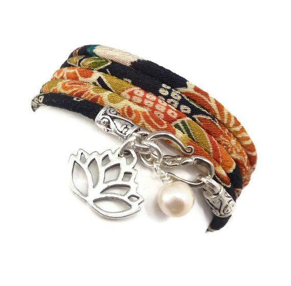 Lotus Flower Wrap Bracelet
