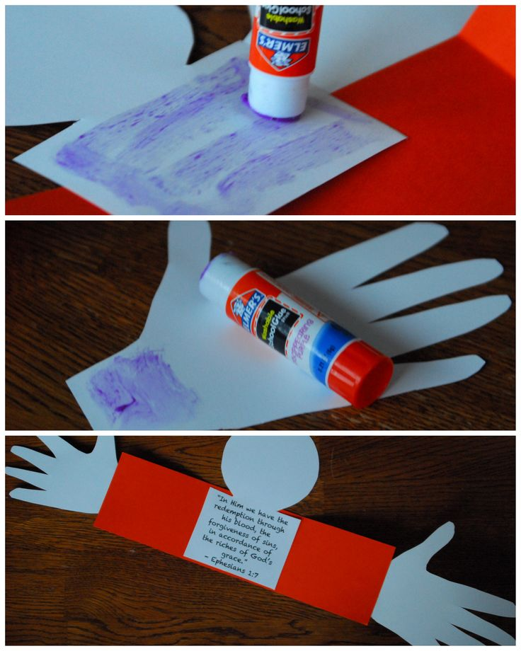 forgiveness crafts for sunday school | ... and hands. I recommend using a glue stick for paper crafts like this