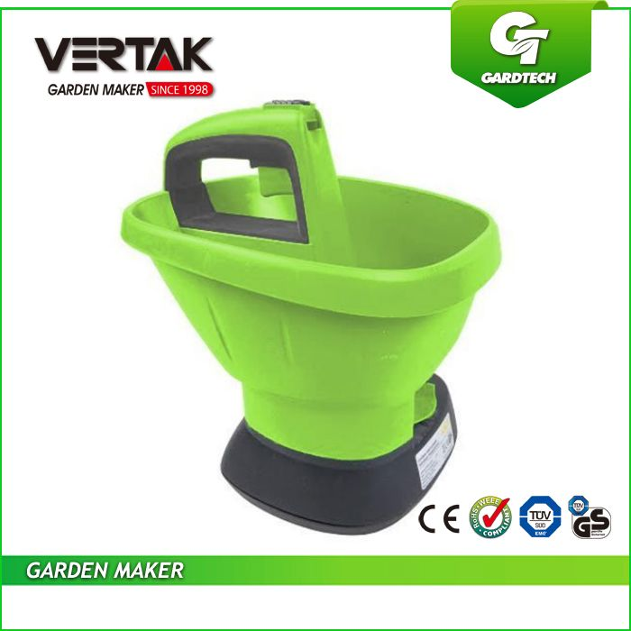 """6V Cordless salt spreader,Battery 2.7L seed spreader, Chargeable lawn fertilizer spreader"""