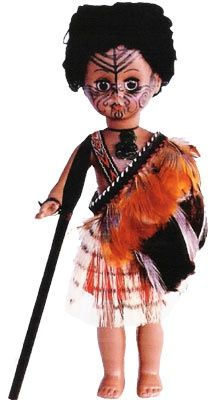 Warrior Maori Doll 1 - 27cm   Shop New Zealand