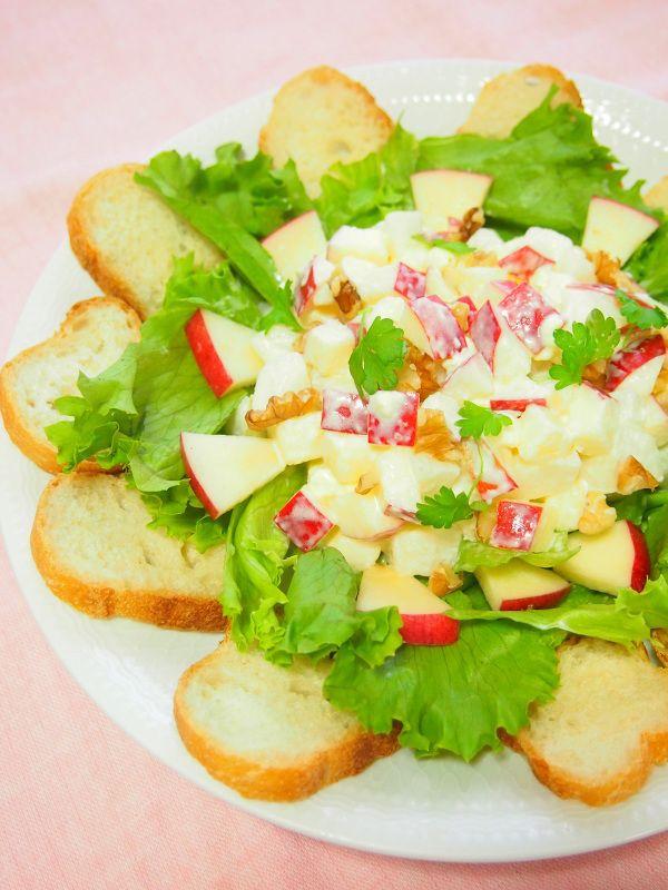 りんごとなし・クリームチーズのサラダ by 河埜 玲子   レシピサイト ...