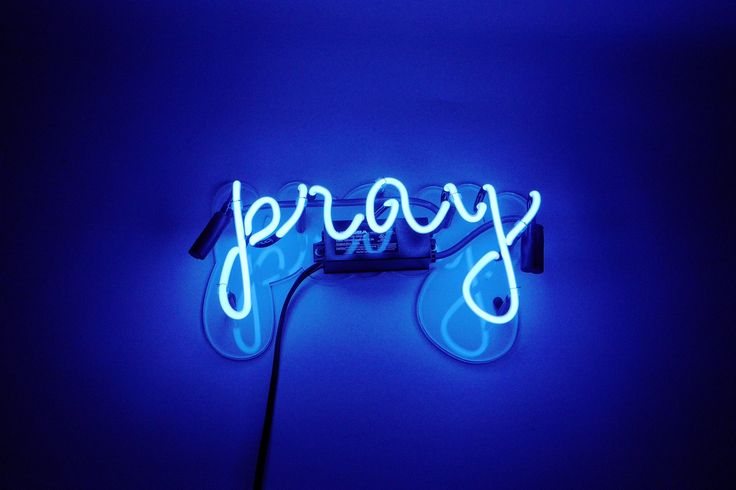 Pray Neon Sign | Noble Gas Industries | Affordable Neon Home Decor
