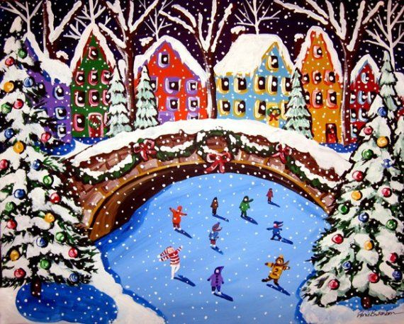 Folk Art Skaters