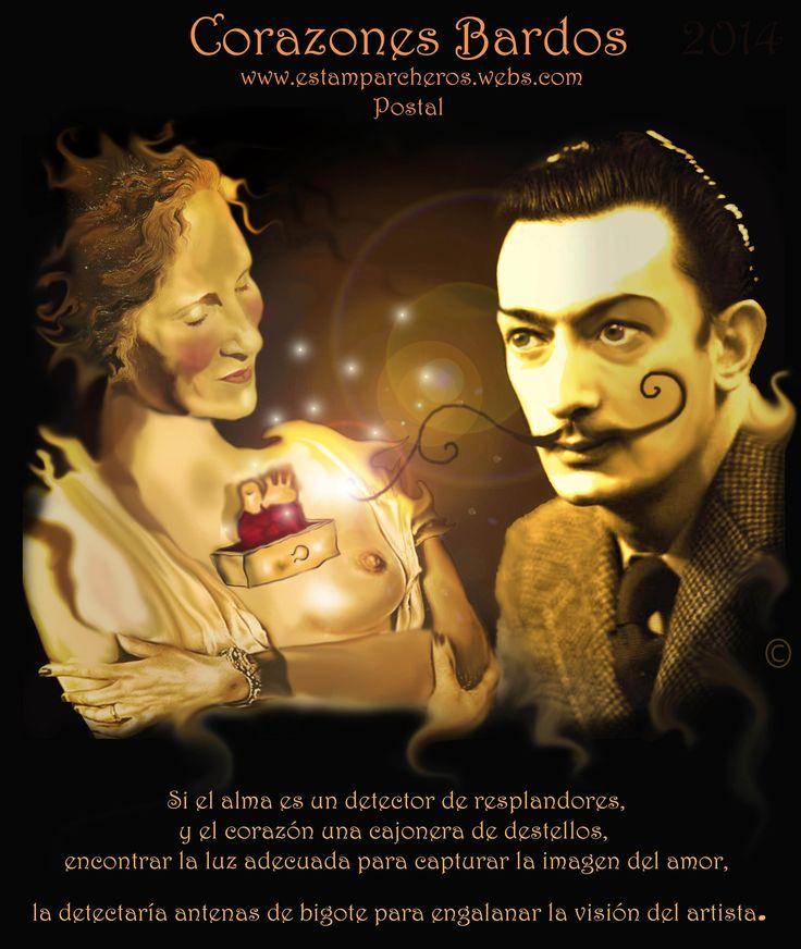 Corazón de Dali y Gala http://www.estamparcheros.webs.com/ http://cyanhin1988.wix.com/corazones-bardos