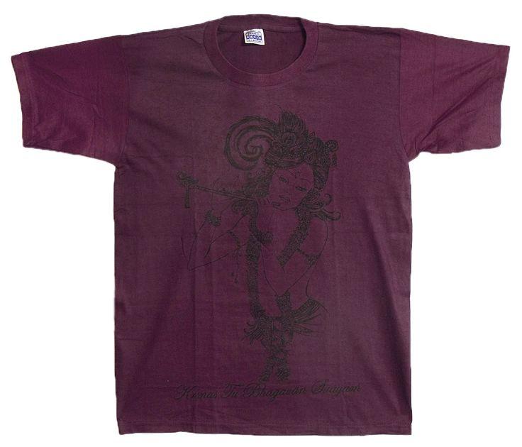 Krishna Print on Maroon T-Shirt (Cotton)
