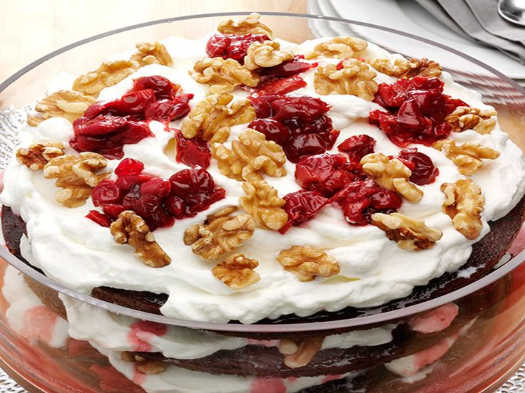 Get this delicious and easy-to-follow Black Forest Walnut Trifle recipe at Food Network.