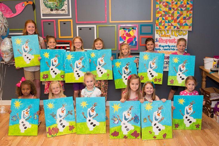 Ryan 39 s frozen paint party canvas class ideas for Kids paint party