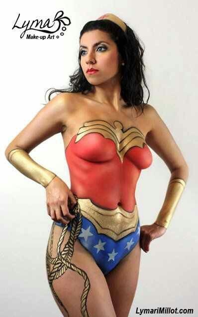Wonder Woman - Your so going to body paint me! I have a great idea! With some fun rules