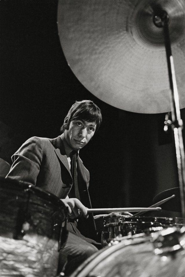 """Bent Rej. """"The Drummer"""" Charlie Watts on Stage, Copenhagen, 1965. TASCHEN Books"""