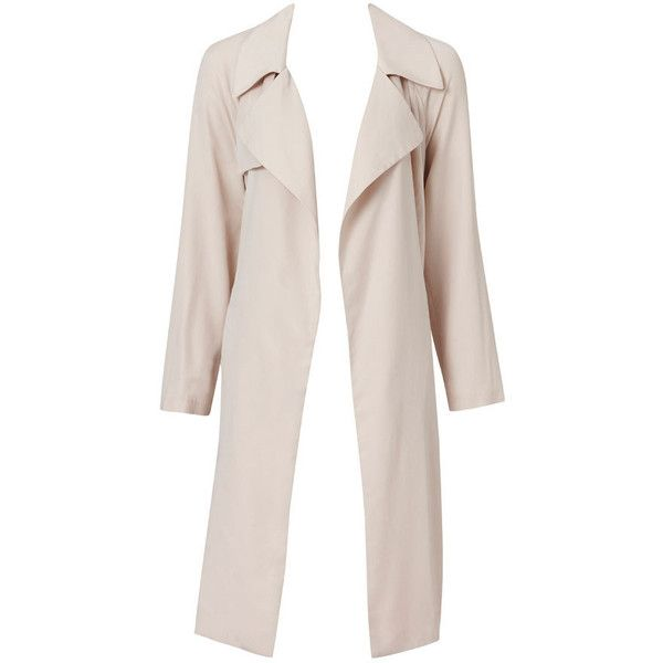 Saxton Soft Trench (£24) ❤ liked on Polyvore featuring outerwear, coats, pink trench coat, pink coat and trench coat