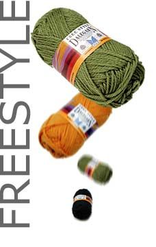 Dale of Norway Freestyle Yarn 39 colours Price:  $6.25 per ball On Sale! Weight Type:  worsted Ball Weight:  50g/1.75oz ball Ball Yardage:  87 yards/80 meters Gauge:  18sts = 4in/10cm Suggested Needles:  size 6 to 8 US Contents:  Superwash wool Care:  machine or hand wash, dry flat
