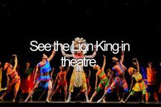 See The Lion King in theatre.