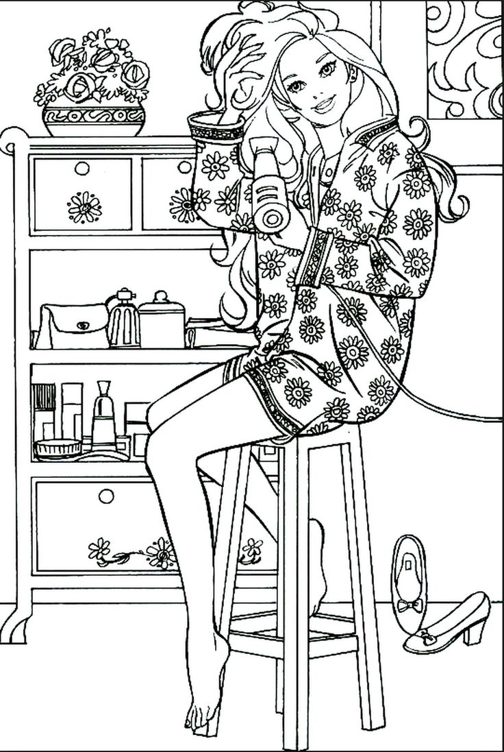 117 best coloring barbie images on pinterest coloring books
