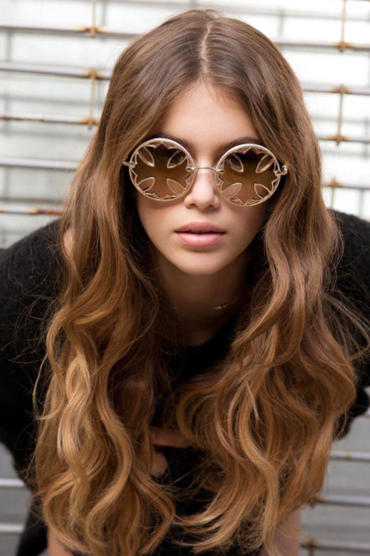 Kaia Gerber serving up some serious sunglasses envy as the new face of Chrome Hearts (via @chromeheartsofficial)
